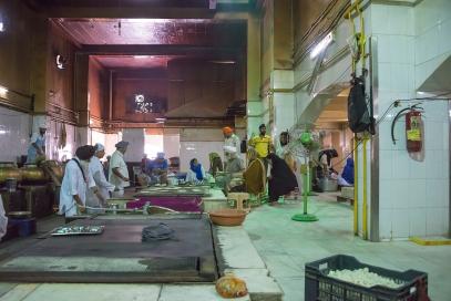 Making Chapatis in Delhi