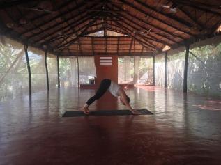 Me Practising Yoga